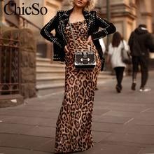 Женское платье макси с леопардовым принтом на шнуровке MissyChilli, весеннее сексуальное пляжное вечернее платье с рюшами, женское винтажное длинное платье с открытой спиной festa