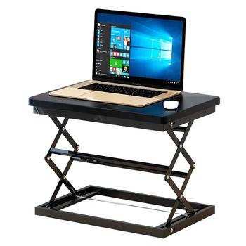 Stand-up komputer stół podnoszący laptop komputer stacjonarny biurko stojące biuro stół warsztatowy pulpit zwiększ półkę podnoszoną tanie i dobre opinie CN (pochodzenie) Biurko komputerowe Meble sklepowe home china Metal Aluminium Laptop biurko Solid color Meble szkolne 50*37*10