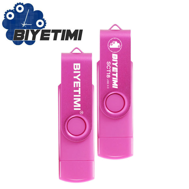 BIYETIMI 3.0 OTG USB Flash Drive  For SmartPhone/PC 64GB 8GB 16GB 32GB High Speed Biyetimi Pen Drive Nine Fashion Colors