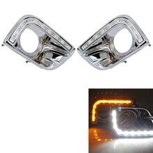 цена на For Toyota Prado 150 Fj150 Lc150 2010-2013 Land Cruiser Led Daytime Running Lights Drl Fog Lamp Cover Driving Lights