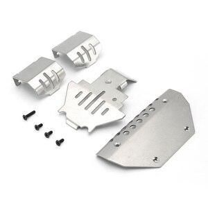 4 шт., комплект из нержавеющей стали для защиты шасси, противоскользящая пластина для 1/10 RC Crawler Traxxas TRX4 TRX-4 G500 RC Car