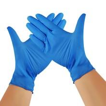 100pc niebieskie jednorazowe rękawice lateksowe zmywanie naczyń praca w kuchni gumowe rękawice ogrodowe na produkt do czyszczenia w domu rękawice #2021 tanie tanio CN (pochodzenie) Silikon