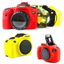 סיליקון שריון עור DSLR מצלמה גוף מקרה תיק כיסוי עבור Canon EOS M50 90D 800D 1300D 1500D 5D2 6D2 200D 5D 6D Mark II T7i T6 T6i