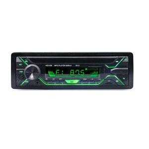 Image 2 - HEVXM 3010 צבע אור MP3 נגן סטריאו לרכב אודיו אחד במקף 1 דין FM מקלט Aux קלט SD MP3 MMC WMA רדיו נגן