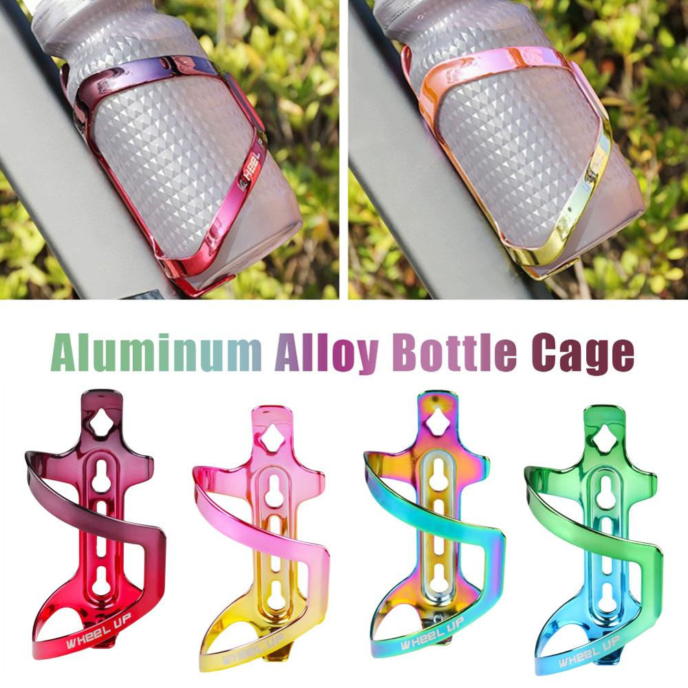 Colorful MTB Mountain Bike Road Bicycle Water Bottle Cage Aluminum Alloy High Strength Rainbow Water Holder Cycling Accessories