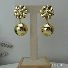 Yuminglai 24k dubai brincos de ouro brincos italianos para mulher fhk10132