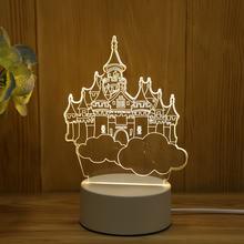 3d светодиодная настольная лампа люминесцентная с Медузой дизайн