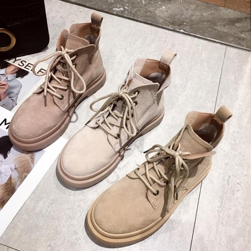 2019 automne et hiver nouveau sauvage Martin bottes femme britannique vent épais avec des bottes courtes beau coréen chaussures pour femmes