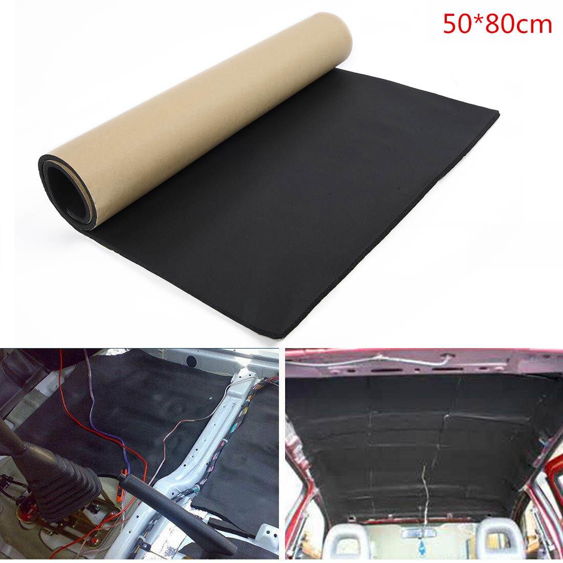 6mm Car Audio Stereo Noise Insulation Sound-proof Dampening Pad Mat 50*80cm Pad Woofer Noise Insulation Soundproof