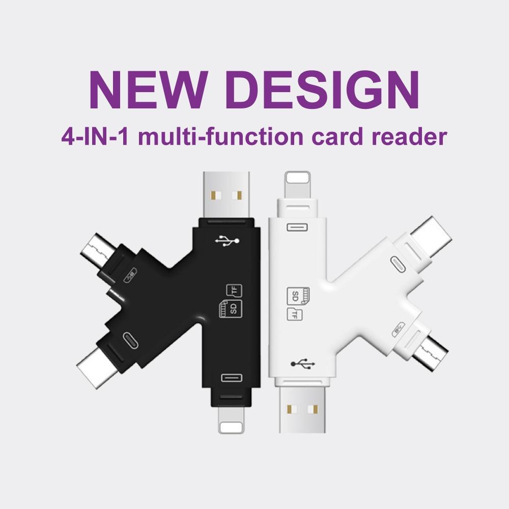 Lightning Micro SD TF OTG Card Reader Multi Memory Mini Adapter for iPhone 6 7 8 11 XR Plus iPod iPad OTG Cardreaders