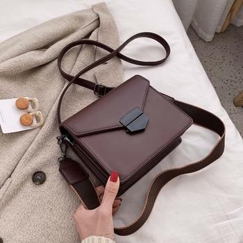 Luxury Design Vintage Flap Purse Women Shoulder Crossbody Bags 2020 Fashion PU Leather Handbag Ladies Messenger Bag Female