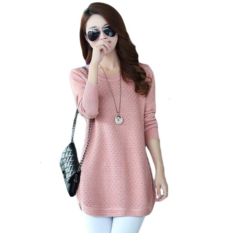 Chandails pour femmes robe chandails 2019 nouveau hiver chaud fait chandails tricots Poncho tuniques rose bleu grande taille CM304