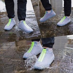 Image 3 - 2020 חדש הגעה רוכסן עמיד למים מכסה נעלי Rainday שלג החלקה גומי נעלי גשם מכסה Platic כיסוי נעליים