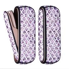 Jinxingcheng 3 cores cintilante saco capa lateral + caso de couro para iqos 3.0 duo bolsa de couro caso acessórios para iqos 3 capa