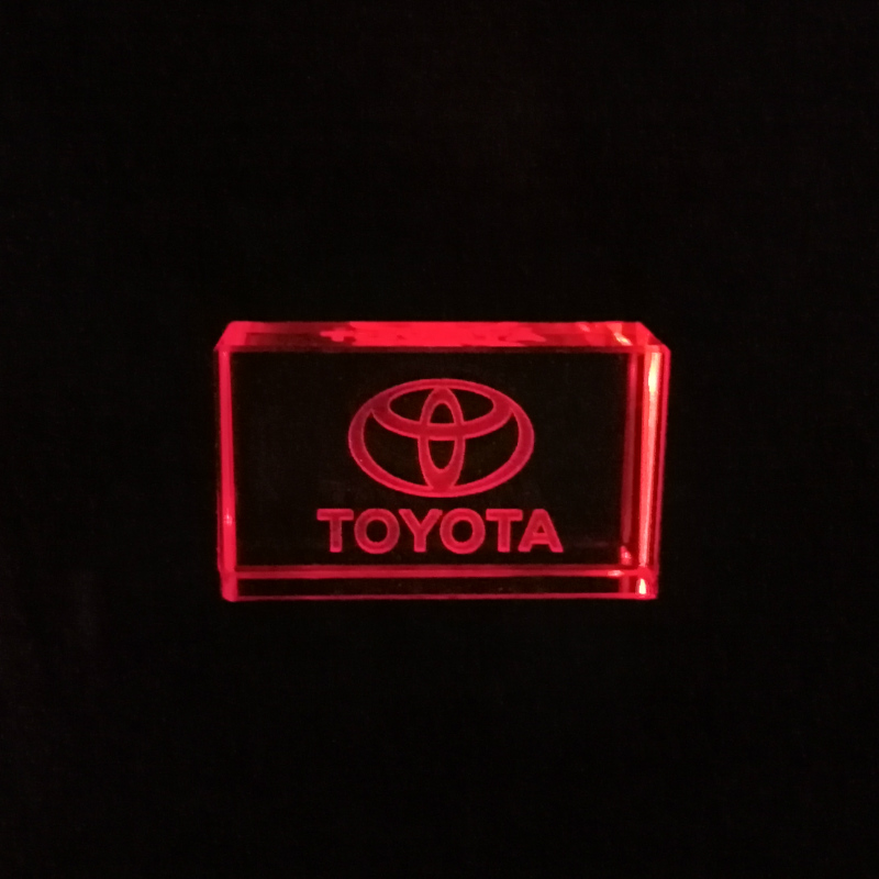 Toyota Kristal + Metalen USB Flash Drive Pendrive 4GB 8GB 16GB 32GB 64GB 128GB Externe Opslag Custom Logo Memory Stick For Gift
