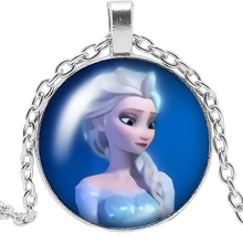 HOT! New Charm Girl Necklace Handmade Cartoon Anime Cheryl Princess Queen Glass Pendant Gift Jewelry