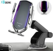 DCAE 10W Qi kablosuz araç şarj cihazı otomatik kızılötesi sensör hızlı şarj telefon tutucu iPhone 11 XS XR X 8 Samsung S20 S10 S9