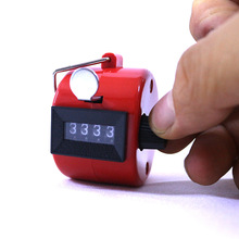 цена на Red Finger Tally Counter 1-9999 Mechanical Counter Hand Quantity Counting Plastic Hand Clicker Press Finger Held Quantity Count