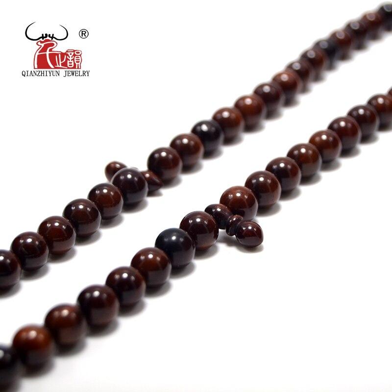 Islam High Quality Muslim Rosary Beads 99 Allah Prayer Beads Natural Palm Fruit Kuka Tasbih Charm Bracelet 6-7mm Dyeing
