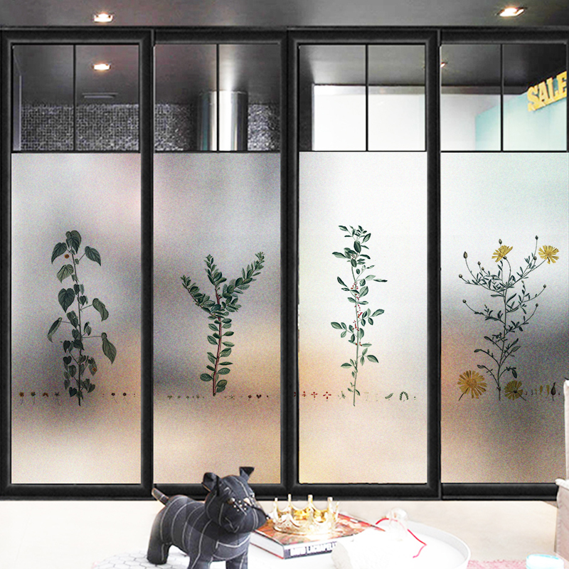 Nordic Plant Static Cling Stained Glass Window Film Frosted Privacy Glass Sticker Home Decor Shower Door Film No Glue Decorative Films Aliexpress,Ikea Closet Organizer Hanging