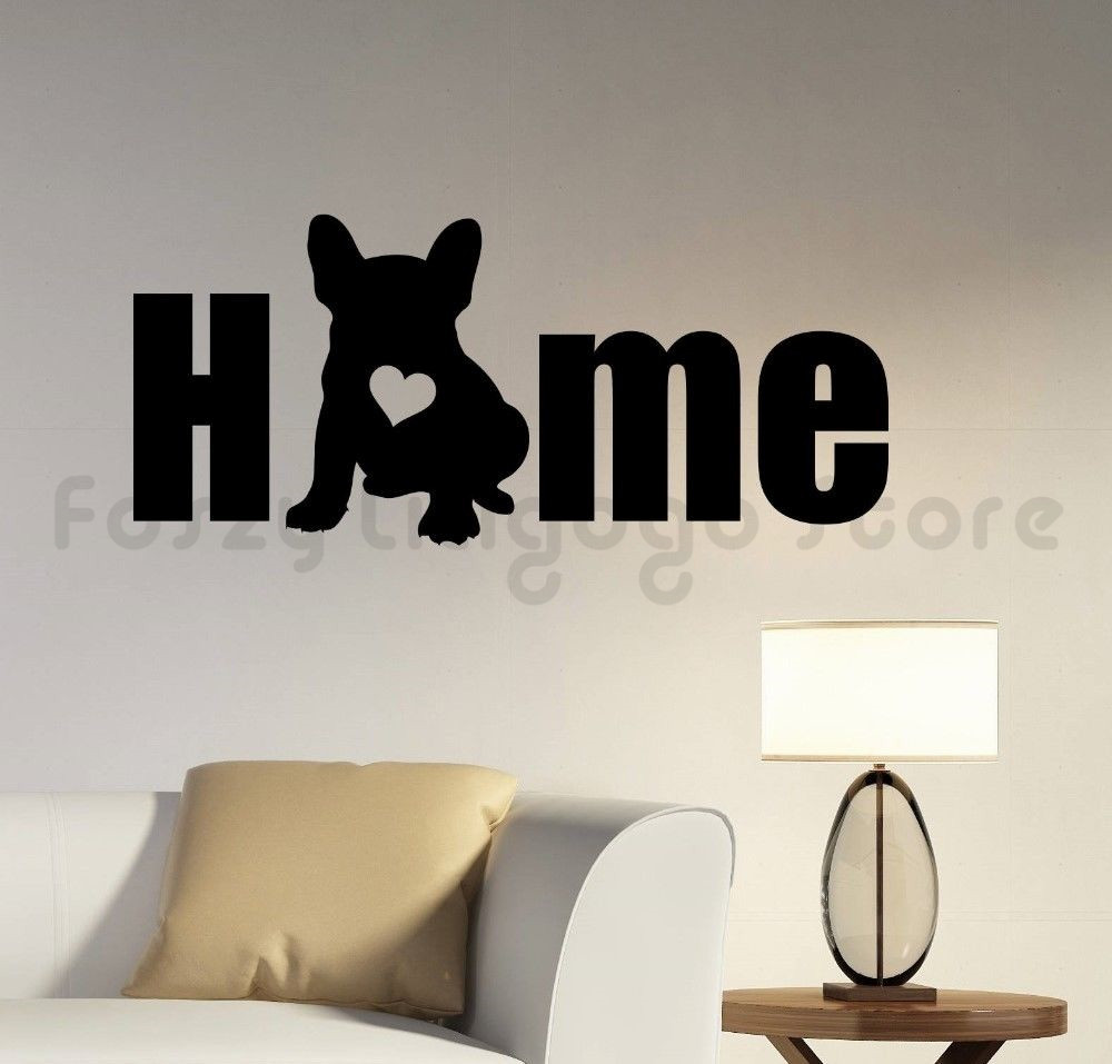 french bulldog Sticker Car van wall door window decal vinyl silhouette Dog breed