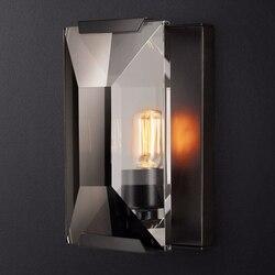 Nowoczesny czarny lampka nad lustro kinkiety do domu lustro łazienkowe ścienne kinkiet lampa oprawy oświetleniowe przemysłowe Bar na ścianę w korytarzu lampa