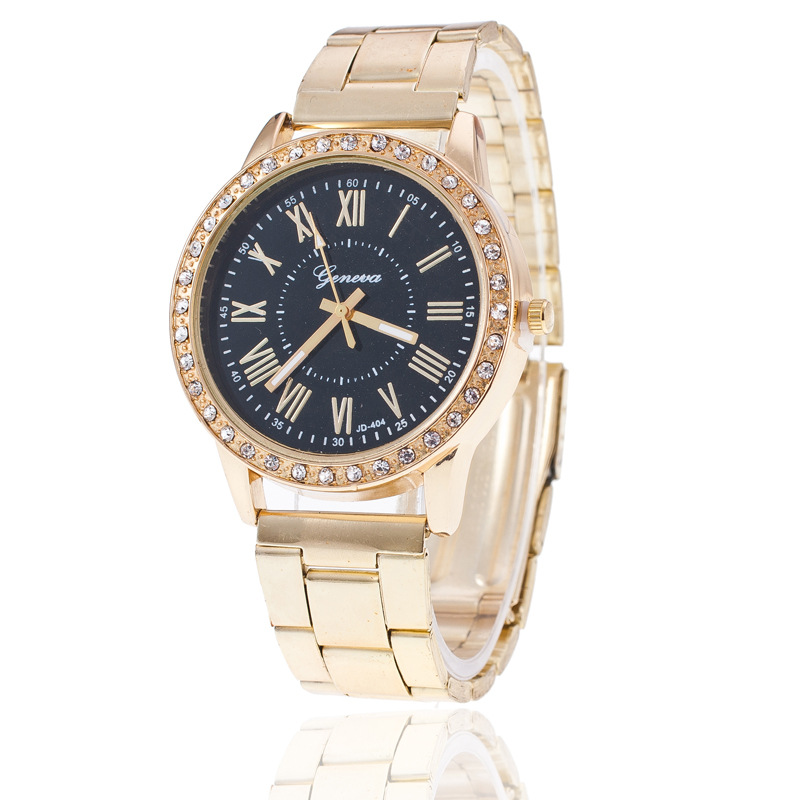 Модные женские часы Geneva классические женские золотые наручные часы с бриллиантами Женские часы под платье часы Relogio Masculino Reloj Mujer