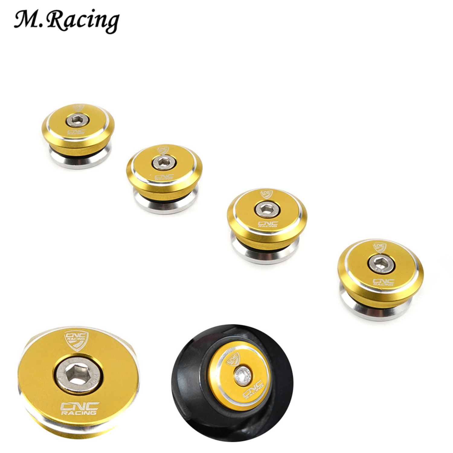 Motorcycle CNC Aluminum Frame Hole Cap Plug Bolt For Ducati 899/959/1199/1199S/1299/1299S Panigale