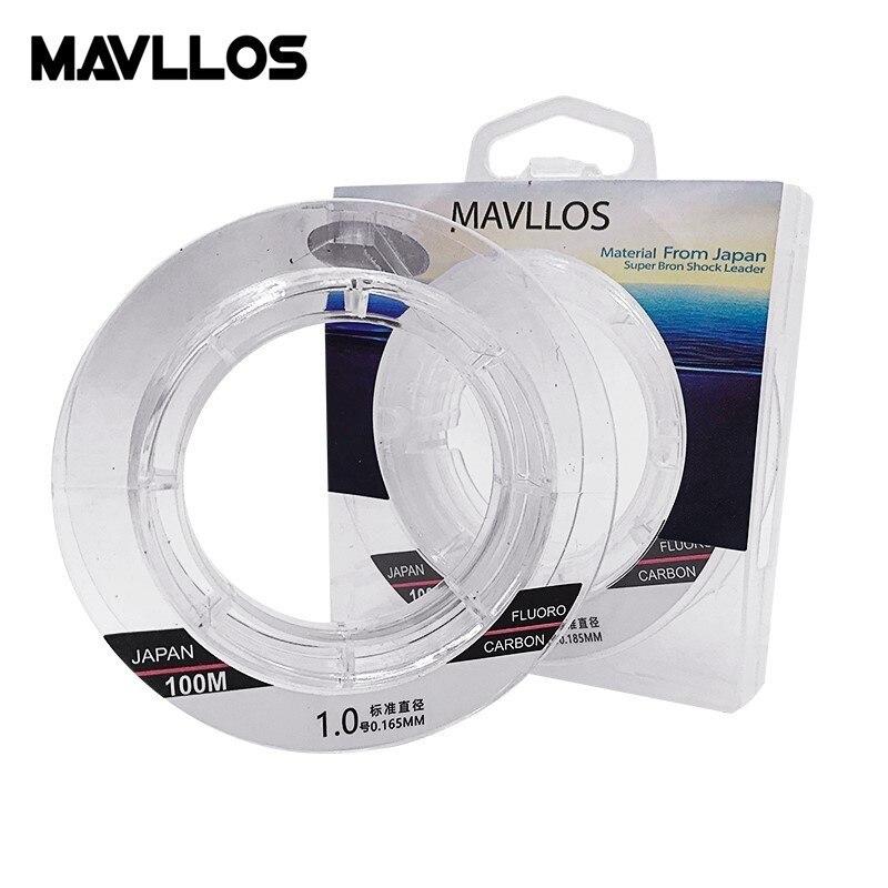 Mavllos полностью раковиняющаяся фторуглеродная рыболовная леска 50 м, 100 м, леска для рыбалки 100%, леска из японского углеродного волокна