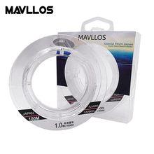 Mavloss – Ligne de pêche en fluorocarbone leader,parfaite pour la coulée, origine japonaise, fibre de carbone, 50 m, 100 m, monofilament, 100 %,