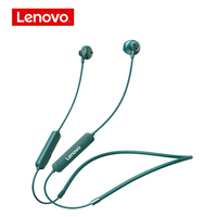 Lenovo-auriculares inalámbricos SH1 con TWS, cascos con Bluetooth, banda magnética para el cuello, deportivos, para correr, resistentes al agua IPX5, reducción de ruido