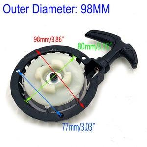 Image 3 - Aluminum Alloy Pull starter Easy to Pull Fit 47cc 49cc 2 Stoke Mini Dirt Pocket Pit Bike Moto ATV Quad Free Shipping