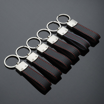 Special gift For BMW Metal Car Keychain M Tech M Sport M3 M5 Leather Key Chain E46 E39 E60 F30 E90 F10 F30 E36 X6 X5 image