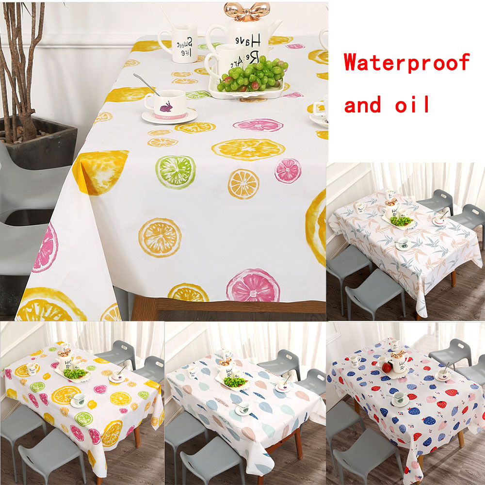 Ins Table Cloth Waterproof Oil-proof Washable Cloth Art TV Cabinet Tea Table PVC Plastic Ironing Proof Student Table Mat
