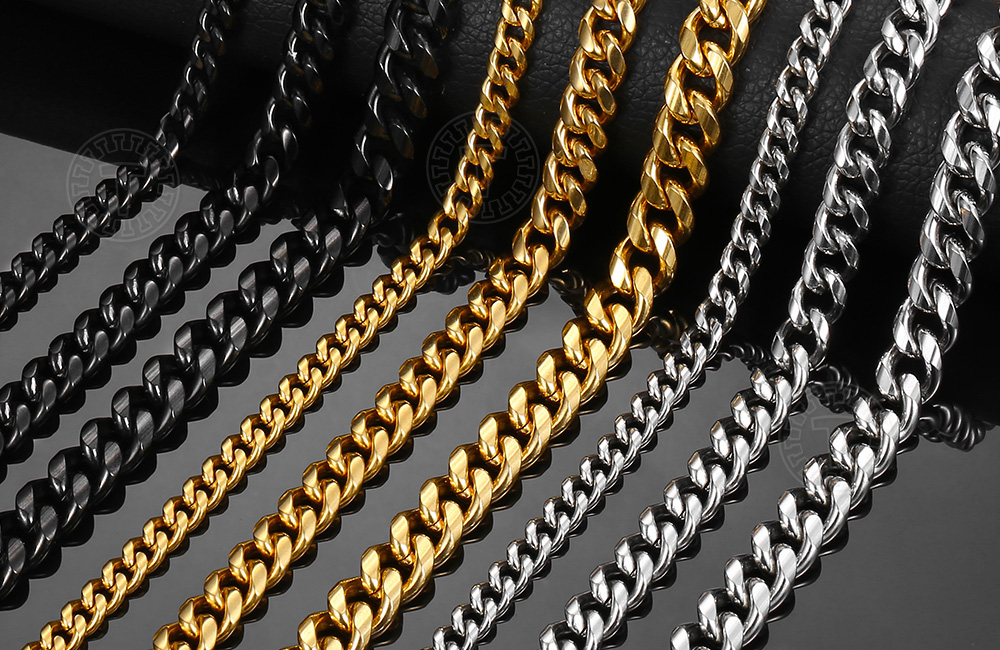 Men's Stainless Steel Colorful Chain