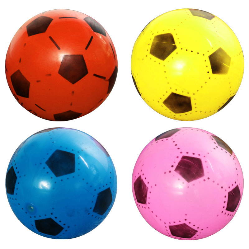 Soccer Training Inflatable PVC Football Elastic Balls Kids Soccer Ball Inflatable Outdoor Sport Football Games Mini Classic Toys
