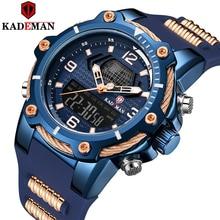 KADEMAN Warterproof Watch Sports Silicone Mens Watches Top Brand Luxury Clock Male Business Quartz Watch Men Relogio Masculino