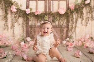 Image 2 - Mehofond Pasgeboren Achtergrond Roze Bloem Pasgeboren Baby Shower Verjaardagsfeestje Portret Fotografie Achtergrond Fotostudio Decoratie