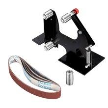 Diy m10/m14 correia de lixa elétrica, acessórios adaptador de cinto para máquina de polimento, lixa para 100/115 125