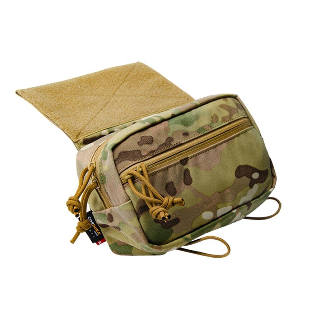 Sac sous abdominale tactique déroulant la poche de ventre utilitaire pour MK3 D3 Mini gilet de plate-forme de poitrine 500D accessoires de chasse en Nylon Airsoft