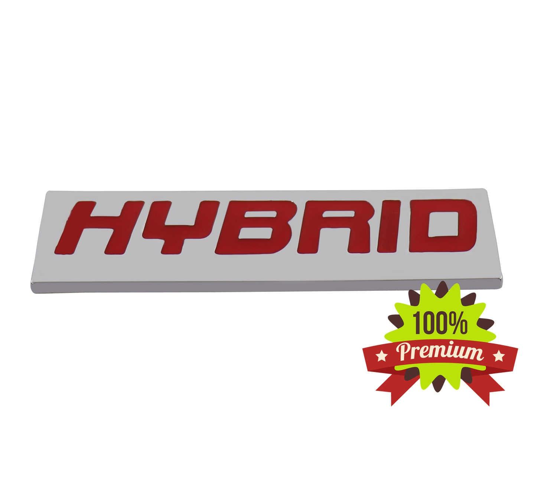Chrome HYBRID for Fender Trunk Rear Nameplate Emblem Decal Badge Sticker