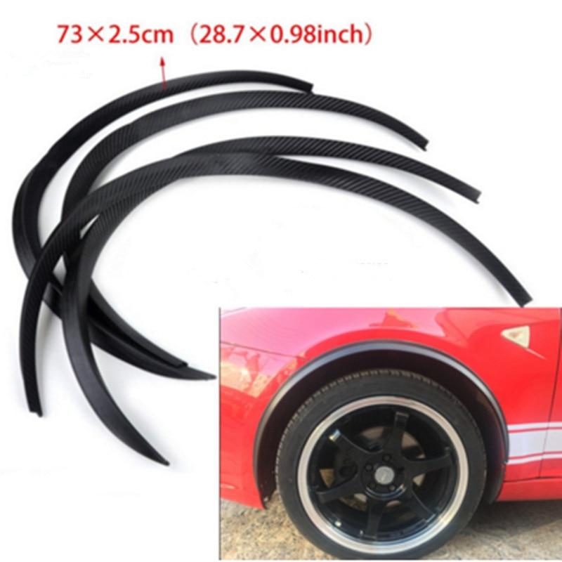 Car Auto Wheel Fender Flare Flexible Eyebrow Protector Sticker Strip Cover Slim