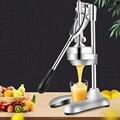 Пресс с ручным управлением соковыжималка из нержавеющей стали для апельсинов гранатов ручная соковыжималка коммерческая или Бытовая