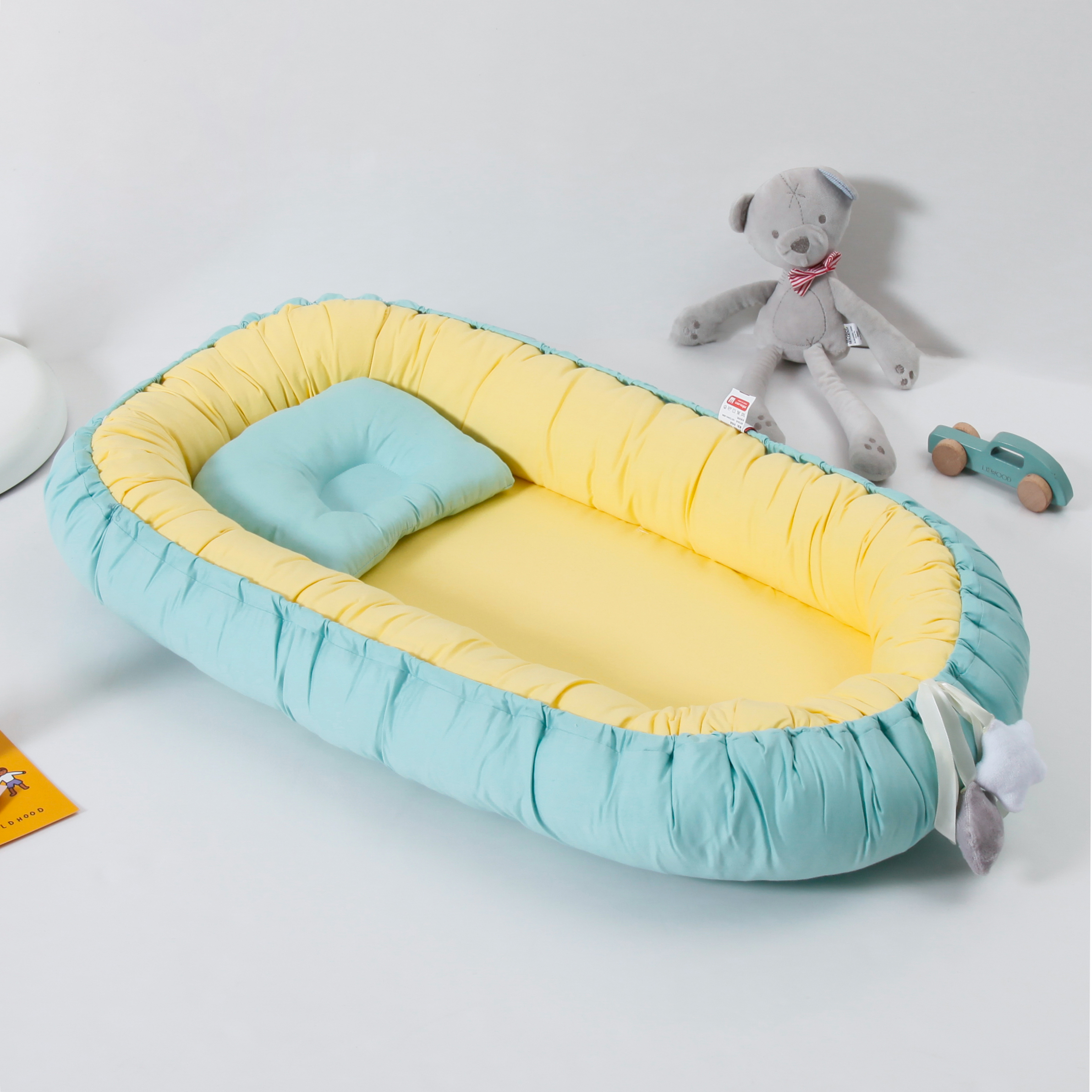 Baby Crib  Portable Baby Cot With Pillow Travel Bed Crib Cots Cushion Baby Bed For Newborns Infant Cradle Crib  Baby Nest