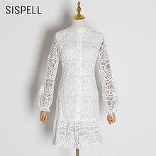 Женское винтажное платье sispell лоскутное кружевное с воротником