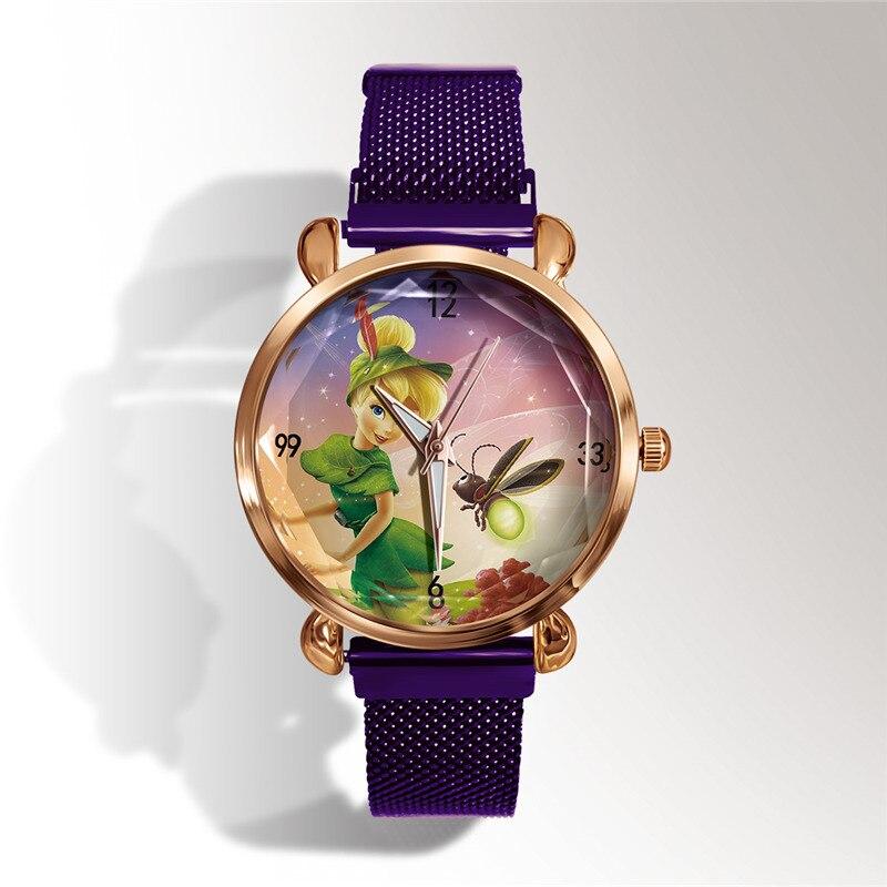 reloj New lover часы мода 3D мультфильм Princess Aisha кварц часы +Магнит пряжка платье часы женщины дети часы +% D1% 87% D0% B0% D1% 81% D1 % 8B