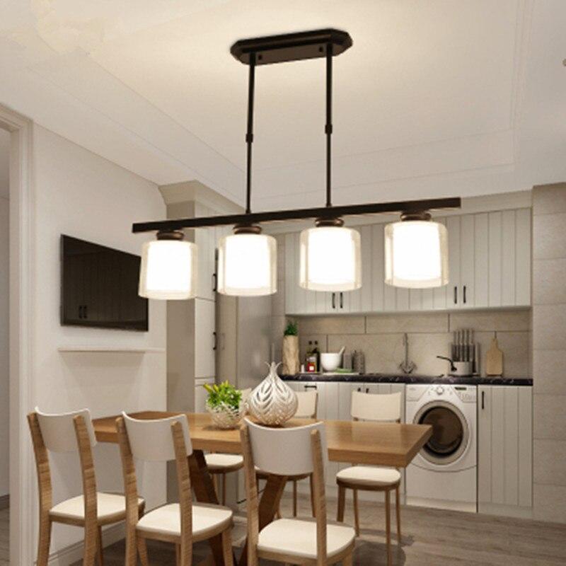 Nordic Vintage Designer Led Black Glass Hanging Ceiling Chandelier Lighting Lusters Lamp For Living Room Kitchen Loft Bedroom