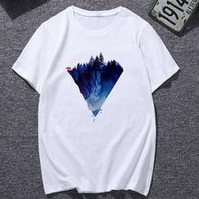 Женская одежда для девочек футболка с эстетичным принтом гор