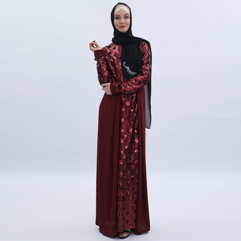Sequin Abaya Dubai Hijab Muslim Dress Kaftan Turkish Islamic Clothing Abayas For Women Caftan Robe Femme Musulman Djelaba Femme