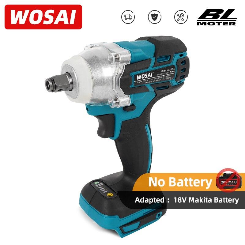 WOSAI mt-series 20V sans fil clé à chocs électrique Rechargeable 1/2 clé à douille outil électrique pour batterie Makita